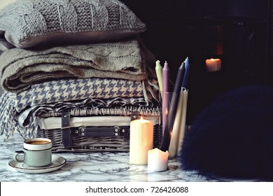 Cozy home and cup of coffee