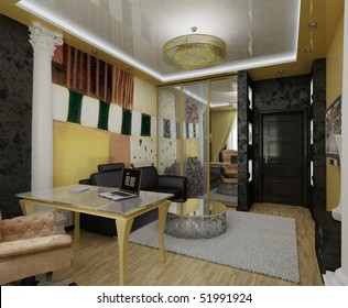 cozy interior room with furniture and decor