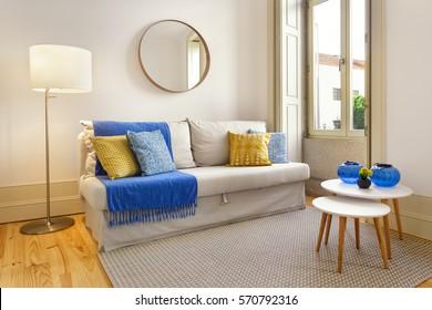 Cozy Living Room With Big Window