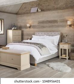 Cozy modern bedroom interior