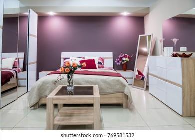 Purple Bedroom Hd Stock Images Shutterstock