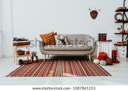 cozy modern home decor inspired by の写真素材 今すぐ編集