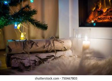 cozy New Year's design in the house