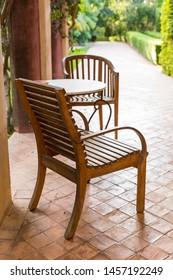 Cozy sitting area in mediterranean garden
