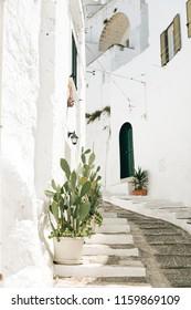 Cozy street in Ostuni, Puglia, Italy