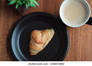 cozy warm breakfast setup with coffee