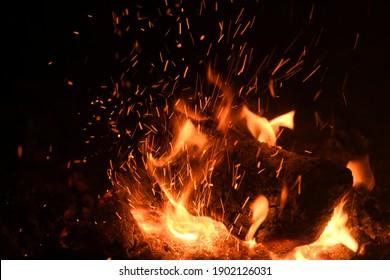 Cozy and warming log fire, Alicante Province, Costa Blanca, Spain