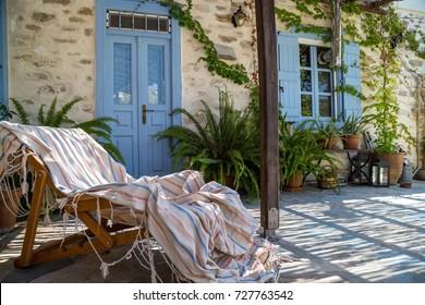 Cozy yard of a greek house