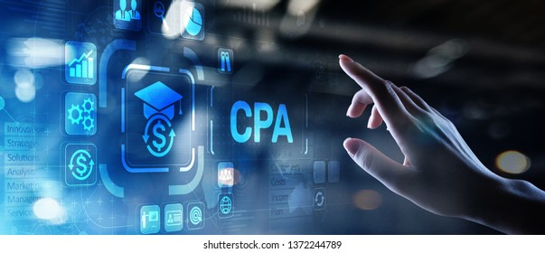 CPA Certified Public Accountant Audit Business concept on virtual screen.