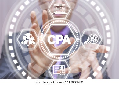 CPA Certified Public Accountant Business concept. Bookkeeper Education Certification.