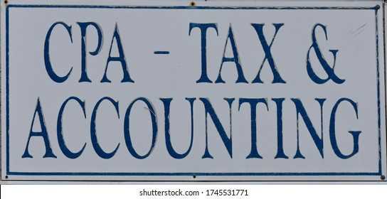 CPA Tax And Accounting Sign