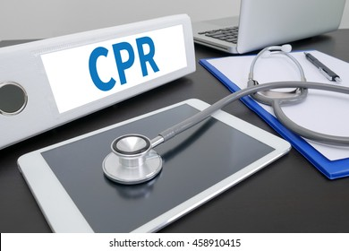 CPR      Cardiopulmonary resuscitation Basic life support ( BLS )and Advanced cardiac life support ( ACLS )( mouth to mouth folder on Desktop on table. ipad