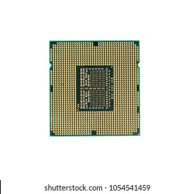 CPU (Central Processing Unit) or Microchip Computer isolated on white background