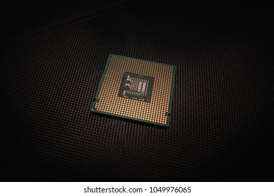 CPU or Central Processing Unit on black background