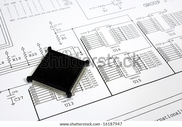 cpu chip on the circuit diagram