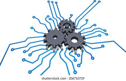 CPU cog wheel