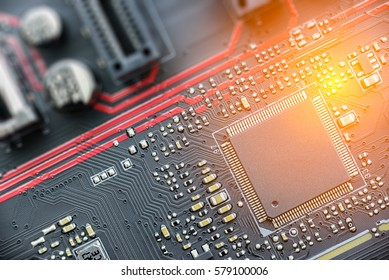 CPU on a printed circuit board or PCB. The CPU is the brains and the key important part of a computer where most calculations take place. Most modern CPU are microprocessors on an integrated circuit.