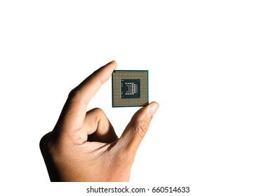 Cpu technology concept computer hardware isolated on white background