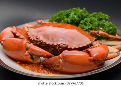 Crab dish seafood with curry sauce in Restaurant dinner food
