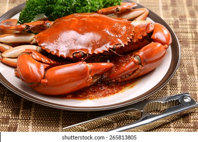 Crab dish seafood in Singapore Restaurant delicious dinner food