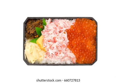 Crab and Ikura lunch box