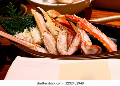 Crab legs cooked, Japanese menu for health, Zuwai Kani Crab, snow crab has long legs full of tasty meat