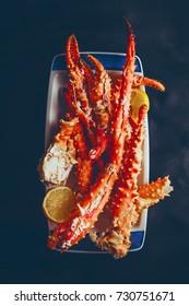 Crab legs top view