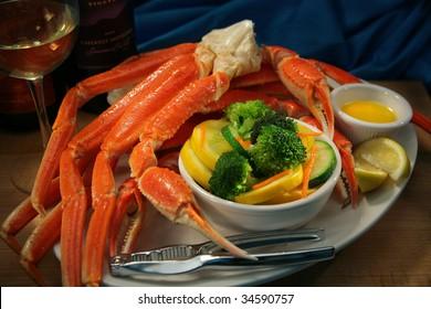 Crab Legs and Veggies