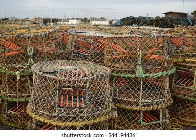 Crab or lobster pots at Poole, Dorset