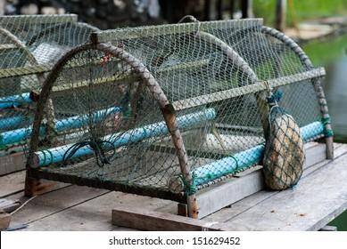 Crab trap In Soft shell crab Farm