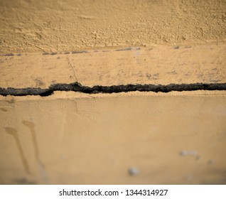 Crack in the concrete wall. Abstract background for design
