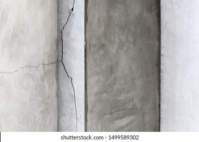 Crack concrete wall texture background.