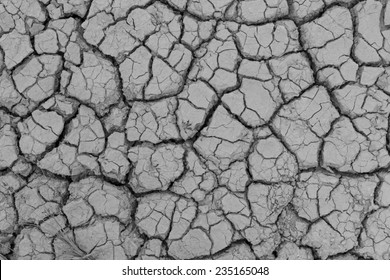 Crack earth/Crack soil on dry season/Global worming effect background