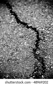 a crack ground by earthquake