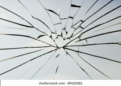 the crack laminated safety glass