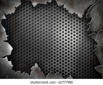Crack metal background or template for your design