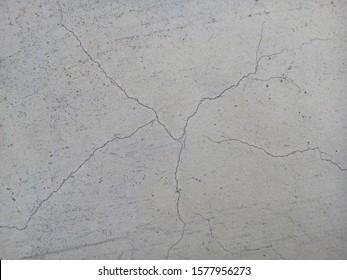 Crack on new concrete floor texture background.