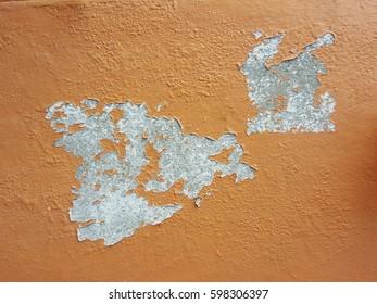 crack peel orange concrete wall texture
