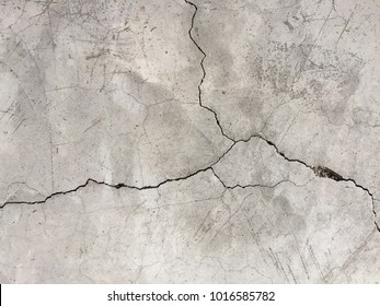 crack of polish concreat floor.