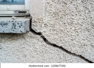 Crack in a wall construction defects
