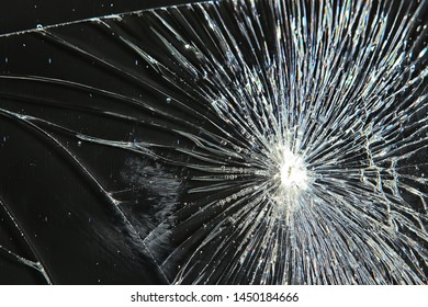 cracked black glass / broken glass abstract texture background