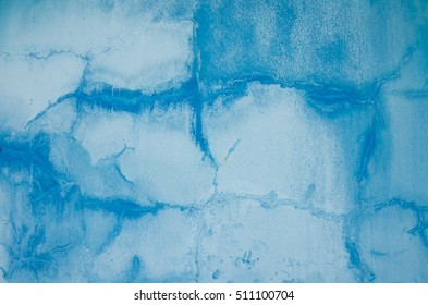 cracked blue concrete wall texture grunge and vintage style