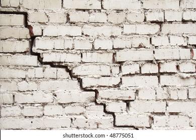 cracked brick wall