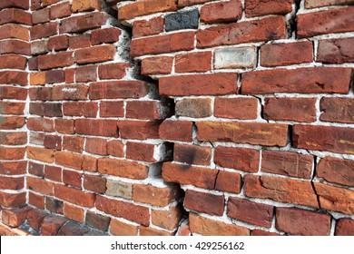 cracked brick wall, Brick Wall Background