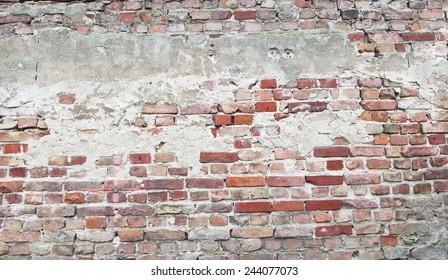 cracked brick work background