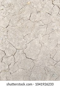 cracked by drought the ground, black and white picture