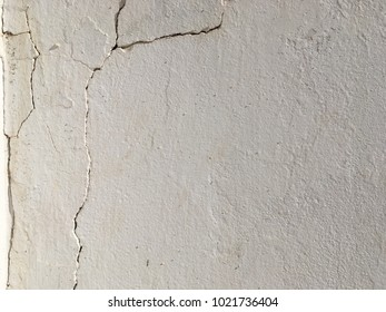 Cracked cement white