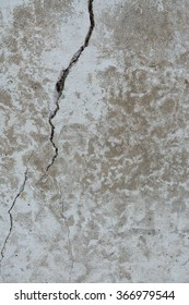 Cracked concrete wall.