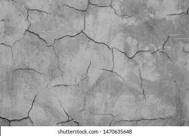 Cracked concrete wall. Grunge texture.