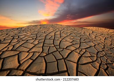 cracked earth at 3000 boke, Ubonratchatani, Thailand